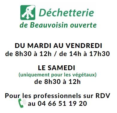 dechetterie Beauvoisin