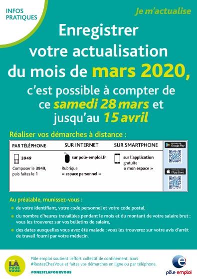pole emploi mars 2020